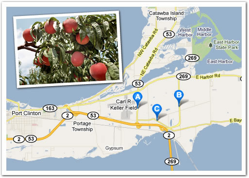 map of Berman Orchards